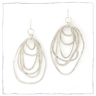 Continuity handmade silver earrings by Lisa Colby, metalsmith