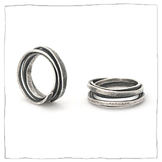 Continuity handmade silver ring by Lisa Colby, metalsmith