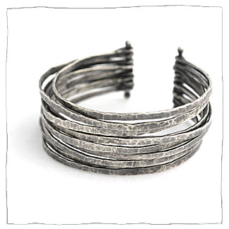 Continuity handmade silver bracelet by Lisa Colby, metalsmith